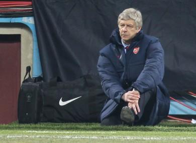 Arsene Wenger on the San Siro sideline last night.