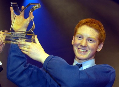 Patrick Collison winning the Young Scientist competition in 2005. Collison's start