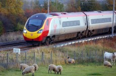 Reds fans stuck after train derails in Cheshire