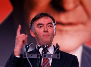 Pádraig Flynn pictured in 1991