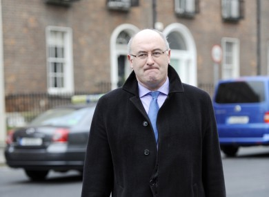 Phil Hogan outside Government Buildings