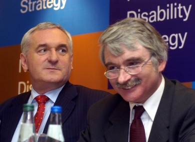 Willie O'Dea (L) with Bertie Ahern in 2004
