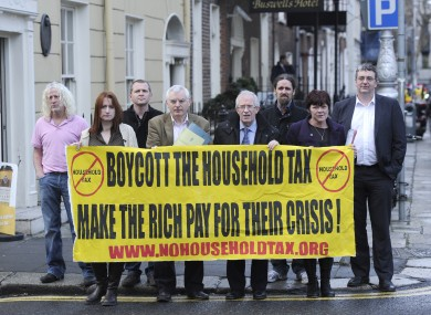 TDs including Richard Boyd Barrett and Thomas Pringle at the launch of the campaign in December