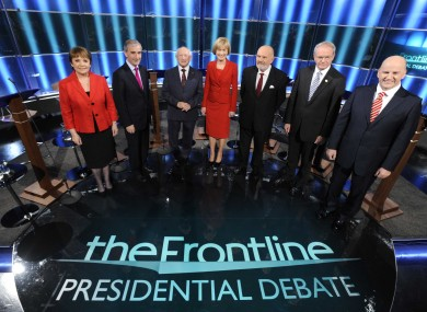 The candidates before the debate last October