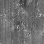 This composite image shows zig-zag marks on the ocean floor which indicate how the debris settled as if the ship had spun down through the water rather than descending in a straight line as was previously thought. (AP Photo/RMS Titanic Inc.)