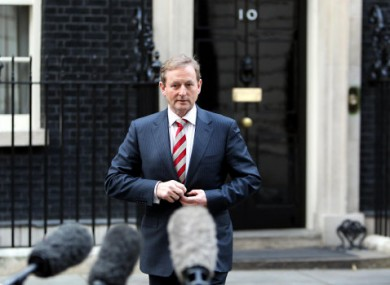 Kenny at Downing Street in January