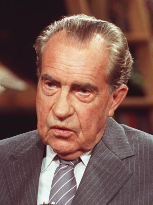 Former U.S. President Richard Nixon who got a pardon for his corrupt dealings