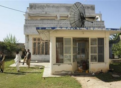 the guesthouse inside Osama bin Laden's compound in Abbottabad, Pakistan