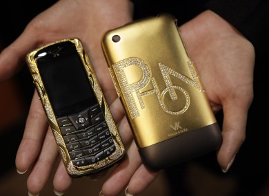 Not exactly Victoria's phone but this 18k gold mobile could be yours if you have the cash of course
