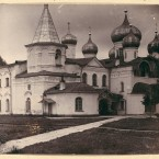Cathedral of the Transfiguration in Aleksandr Svirskii Monastery, 1909. (Library of Congress, Prints & Photographs Division)
