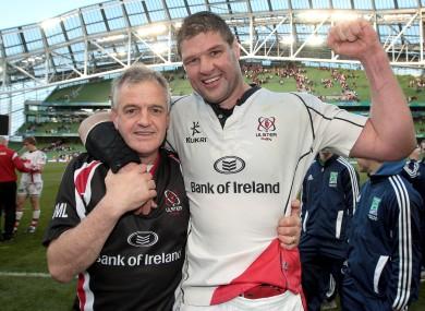 Ulster coach Brian McLaughlin with captain Johann Muller.