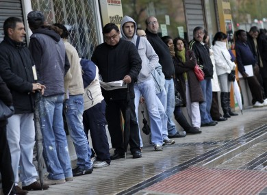 Spain is experiencing the highest rate of unemployment in the eurozone