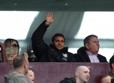 Petrov attended Villa's game with Chelsea on Saturday.