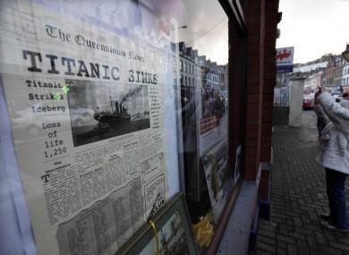 A shop window in Cobh