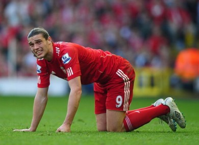 Andy Carroll: unhappy return to Tyneside.