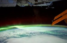 And here is the view from space…