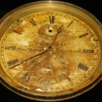 A chronometer from the bridge of the Titanic. (AP Photo/Alastair Grant)