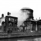 The Four Courts under bombardment from the National Army, June 1922. ©RTE Stills Library