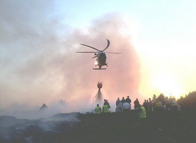 Image provided by the Defence Forces shows the AW 139 Helicopter during a similar operation in 2011