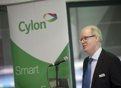 Cylon managing director Sean Giblin, announcing the new investment at Croke Park this morning.