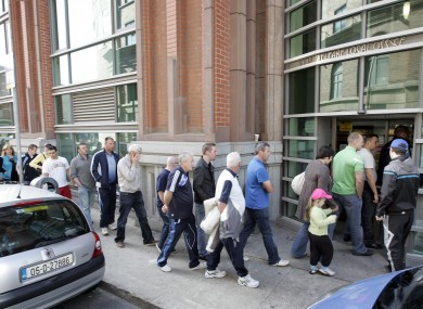 Dole queues are getting longer throughout the Eurozone, new figures show.