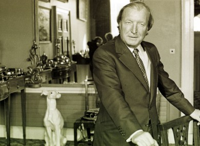 Charles Haughey at his home in Abbeville in 1982.