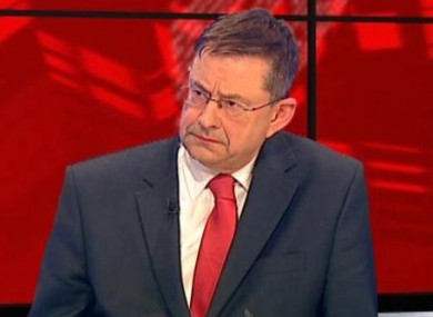 Éamon Ó Cuív appearing on Tonight with Vincent Browne last night