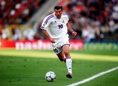 Zidane: a class act.