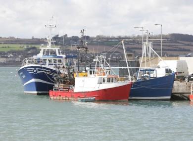 Fishing vessels in Skerries harbour in Dublin