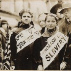 Demonstrators protest against the use of child labour during a labour parade in the city on 1 May, 1909. (Library of Congress, Prints & Photographs Division)