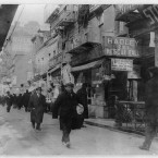 People walking in the Bowery, January 1914. (Library of Congress, Prints & Photographs Division)