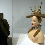 Salvador Dali's sculpture 'Retrospective Bust of a Woman'  (AP Photo/Alastair Grant)