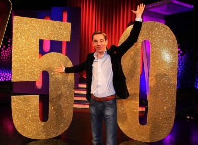 Ryan Tubridy at a photocall last night.
