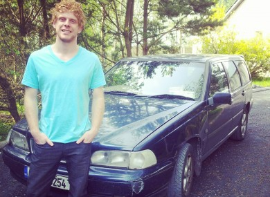Rob O'Rourke with his beloved Volvo