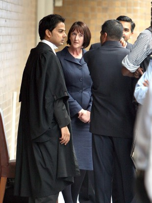 British Forensic scientist Susan Woodroffe arrives at the Supreme Court in Port Louis, Mauritius