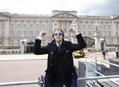 Paul McCartney at the sound check for the Diamond Jubilee concert today.
