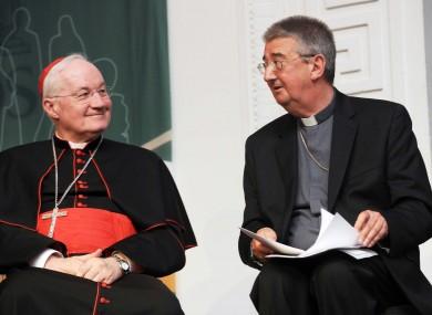 Papal Legate Cardinal Marc Ouellet and Archbishop of Dublin Diarmuid Martin