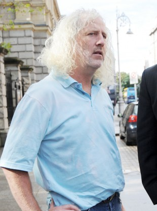 Mick Wallace outside Leinster House in Dublin this morning.