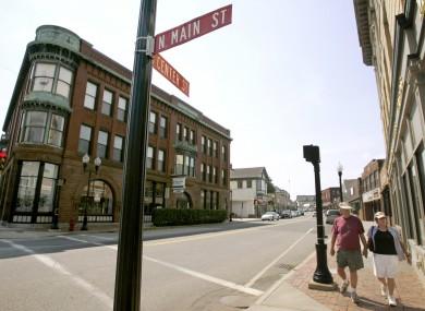The main street of Middleborough in Massachusetts