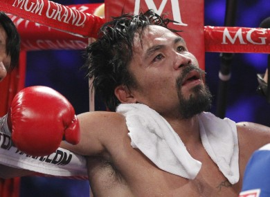 Pacquiao feels he was unlucky to be lose against Timothy Bradley earlier this month.