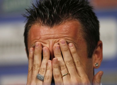 Cassano is one of Italy's most well-known footballers.