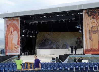 The main stage for the event at the RDS