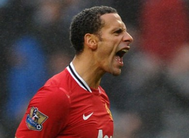 Ferdinand was hoping his Man United form would earn him a place in the squad.