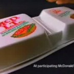 McDonald's introduced the McDLT in the mid-1980s. It was a simple burger with lettuce and tomato, but came in a styrofoam package with separated the lettuce and tomato from the beef patty, keeping the veggies cool and the meat warm.  All was going well for the McDLT until a PR crisis squashed it. The country was becoming increasingly conscious about the environment, and the double-container caused double the damage.  McDonald's pulled the ill-fated McDLT from its menu in 1990, after a 6-year run. Image: theworldsbestever.com