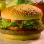The McLean Deluxe was another one of McDonald's earlier efforts to be perceived as more health-conscious. It was more a cousin to its predecessor the McDLT than the similarly-named Arch Deluxe which appeared half a decade later.  Introduced in 1991, the burger was advertised as 91% fat-free, but what doomed the McLean Deluxe was what McDonald's did to get it that way.  McDonald's replaced much of the fat with water and injected carrageenan (seaweed) in order to get the patty to stay together. It performed well in initial taste tests, but it didn't sell well once it went live. Image: elithecat/Youtube.com