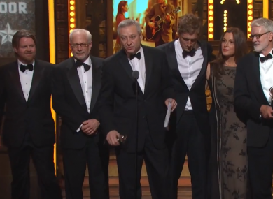 Producer Frederick Zollo accepts the Tony Award for Best Musical for the Broadway adaptation of 'Once'.
