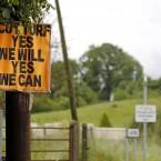 A sign on a road near Clonmoylan Bog