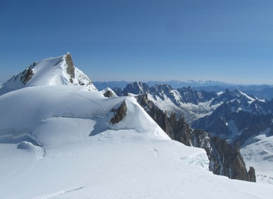 Mont Maudit as seen from Mont Blanc