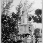 Monument to Cuban students in Colon Cemetery. The students were executed by Spainish troops during their colonisation of the island. (Library of Congress, Prints & Photographs Division)