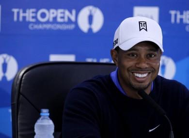 Tiger Woods: feeling good.